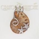 Ciondolo Argento con Ammonite Naturale