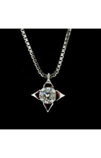 Collana punto luce con Diamante ct 0.09 cod.1593MV