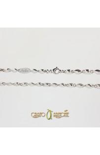 Collana Argento Rodiato Tubolare mm 4,50 - cm 50