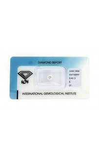 Diamante certificato IGI Ct.0.40 E IF